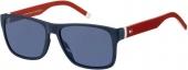 TOMMY HILFIGER TH 1718/S Sonnenbrille blau rot