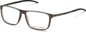 PORSCHE DESIGN P8327 Kunststoffbrille mit Carbon Bügeln braun