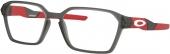 OAKLEY KNUCKLER OY 8018 Brille matt grau-rot