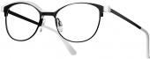 LOOK & FEEL BI 8353 Brille schwarz weiß
