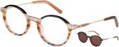 XP by vonBogen XP 1433 Brille mit Sonnenclip schwarz bunt