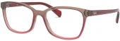 RAY-BAN RB 5362 Kunststoffbrille graubraun rot