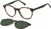 Polaroid PLD 8044/CS Kinderbrille mit Sonnenclip braun