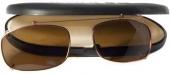 Polarisierender CLIP ON Sonnenclip für Brille inkl. Etui